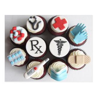 Artsen & Verpleegsters Themed Cupcakes Briefkaart