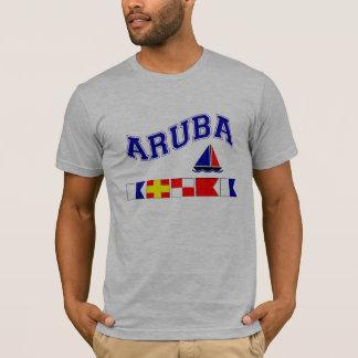 Aruba (de Maritieme Spelling van de Vlag) T Shirt