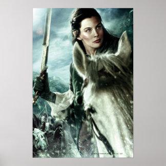 ARWEN™ in Sneeuw en Zwaard Poster
