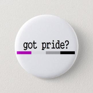 """Aseksuele Trots """"Gekregen Trots?"""" keychain Ronde Button 5,7 Cm"""