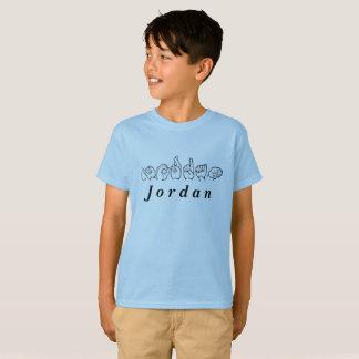 ASL Amerikaanse Gebarentaal Fingerspelled Jordanië T Shirt