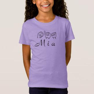 ASL Amerikaanse Gebarentaal Fingerspelled Mia T Shirt