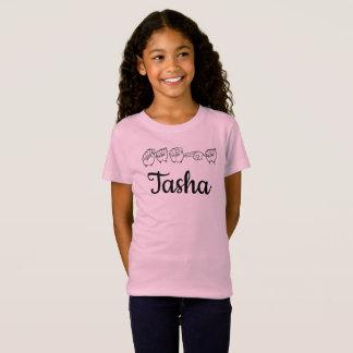 ASL Amerikaanse Gebarentaal Fingerspelled Tasha T Shirt