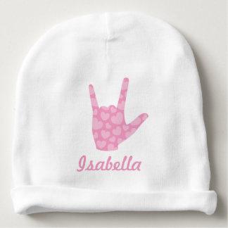 ASL I houdt van u het Baby Beanie van de Naam van Baby Mutsje