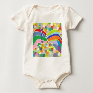 """ASL """"MEER"""" op een Heldere Achtergrond van de Bel Baby Shirt"""