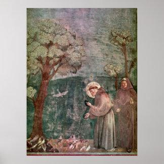 Assisi, St Francis en de vogels Poster