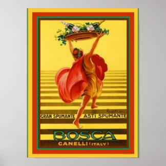 Asti Spumante van Bosca Vintage Poster 12 x 16 van