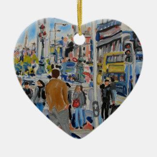 aston kade Dublin Keramisch Hart Ornament