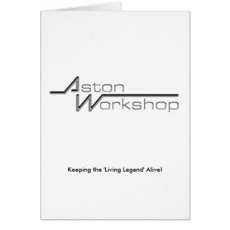 Aston Workshop Wenskaart