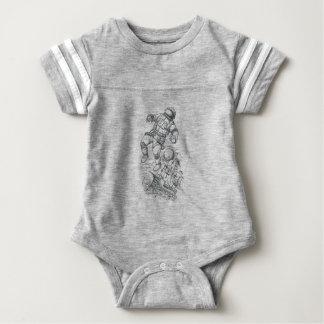 Astronaut die aan Tattoo Caravel wordt gebonden Baby Bodysuit