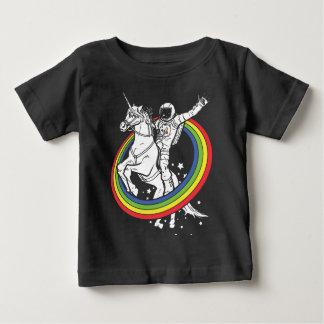 Astronaut die unirorn berijden baby t shirts