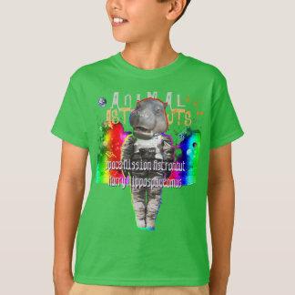 Astronaut van de Opdracht van het nijlpaard de T Shirt