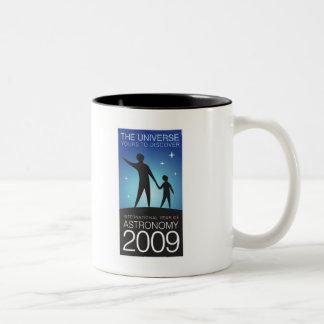 Astronomie 2009 tweekleurige koffiemok