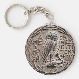 Athene Zilveren Tetradrachm Sleutelhanger
