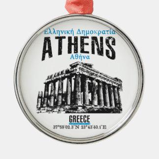 Athene Zilverkleurig Rond Ornament