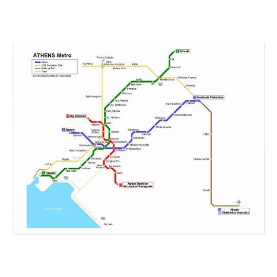 Athens subway briefkaart