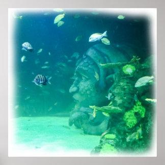 Atlantis onder het Zee Poster