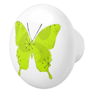 Atoom Groen van de Collage van de vlinder Keramische Knop