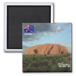 Au - Rots Australië - Uluru - Ayers Vierkante Magneet