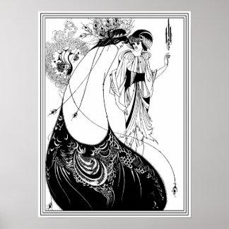 Aubrey Beardsley - de Rok van de Pauw Poster