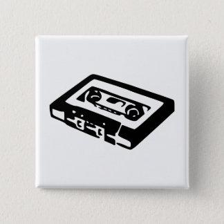 Audio Cassette Vierkante Button 5,1 Cm