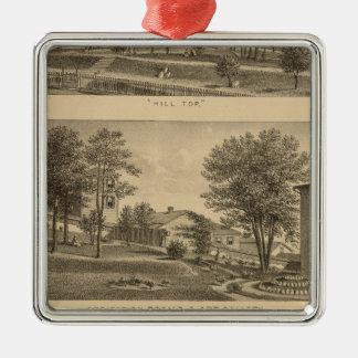 Augusta Vrouwelijk Seminarie, Virginia Zilverkleurig Vierkant Ornament