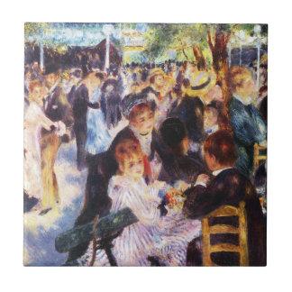 Auguste Renoir - Dans bij La Galette van Le moulin Keramisch Tegeltje