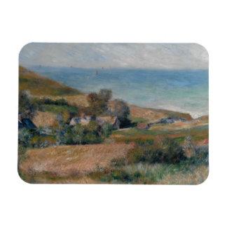 Auguste Renoir - Uitzicht van de Zeekust Rechthoekige Foto Magneet