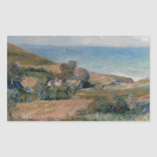 Auguste Renoir - Uitzicht van de Zeekust Rechthoekige Sticker