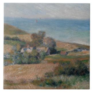 Auguste Renoir - Uitzicht van de Zeekust Tegeltje Vierkant Large