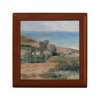Auguste Renoir - Uitzicht van de Zeekust Vierkant Opbergdoosje Small