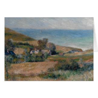 Auguste Renoir - Uitzicht van de Zeekust Wenskaart
