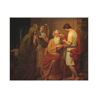 Augustus Malmstrom - Tobias die zijn blinde vader Canvas Afdrukken