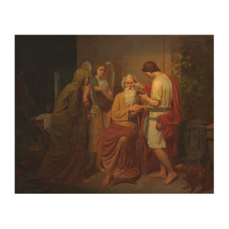 Augustus Malmstrom - Tobias die zijn blinde vader Hout Afdruk