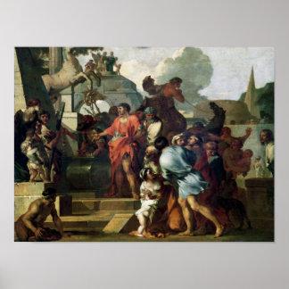 Augustus vóór het Graf van Alexander III Poster