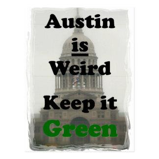 Austin is Bizar houdt het Groen Briefkaart