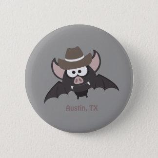 Austin, Texas - de knuppel van de Cowboy Ronde Button 5,7 Cm