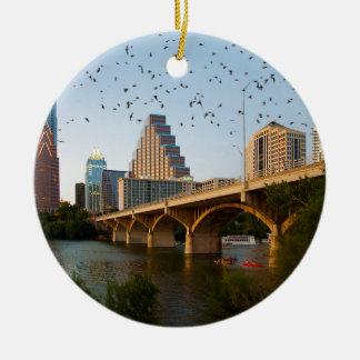 Austin, Texas met Knuppels Rond Keramisch Ornament
