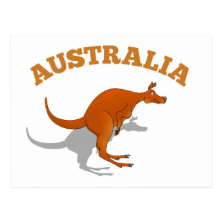 Australië, het springen Kangoeroe Briefkaart