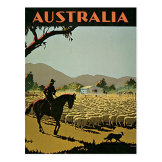 Australië in de Vintage Reis van The Sun Briefkaart