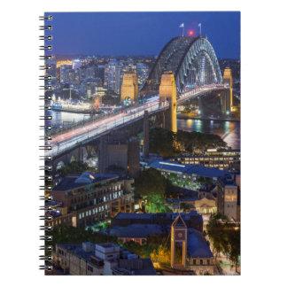 Australië, Sydney, het gebied van Rotsen, de Haven Ringband Notitieboek