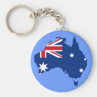 Australië vlagkaart sleutelhanger