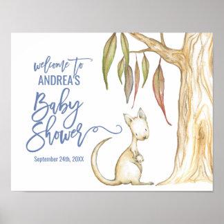 Australische Dieren | Onthaal van het Baby shower Poster