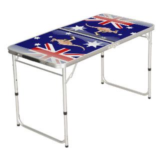Australische kangoeroe beer pong tafel