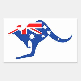 Australische Kangoeroe Rechthoekige Sticker