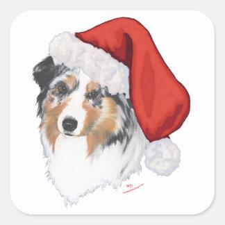 Australische Kerstmis van de Herder Vierkante Sticker