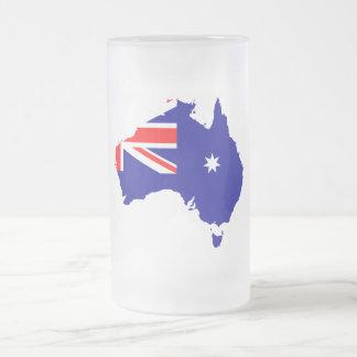 Australische landvlag matglas bierpul