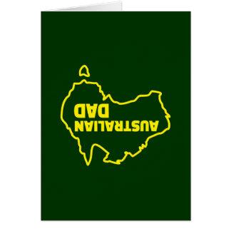 Australische Papa - Omgekeerde Grap Briefkaarten 0