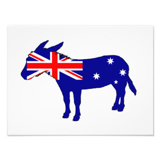 Australische Vlag - Ezel Fotoprints