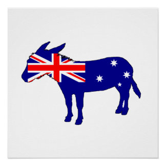 Australische Vlag - Ezel Perfect Poster